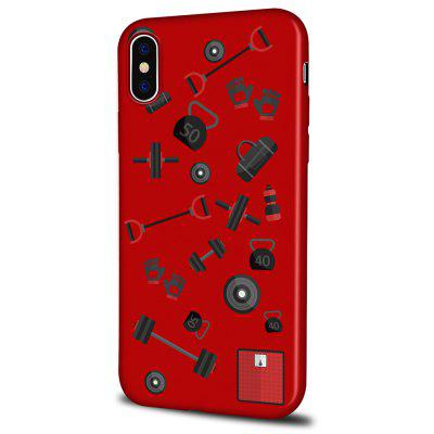 Soft Texture TPU Phone Case for iPhone X Back Cover Sports Equipment