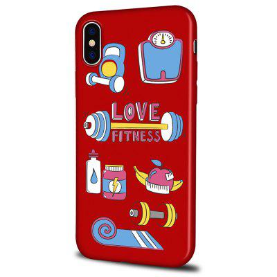Soft Texture TPU Phone Case for iPhone X Back Cover Painted Sports Equipment