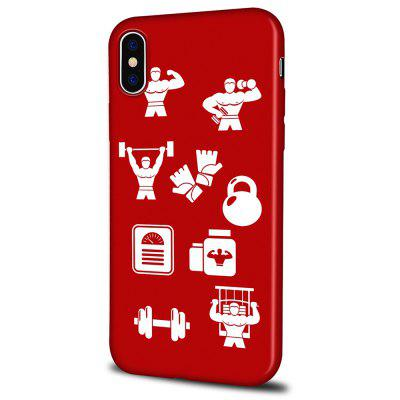 Soft Texture TPU Phone Case for iPhone X Back Cover Weightlifter