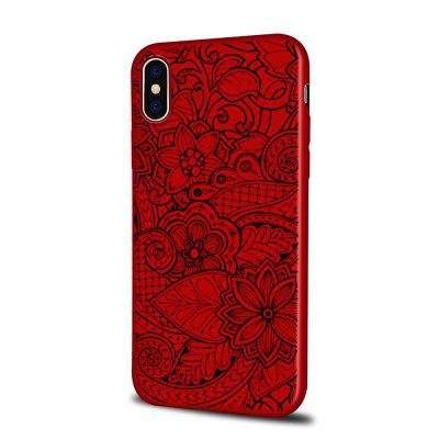 Soft Texture TPU Phone Case for iPhone X Back Cover Blooming Flowers