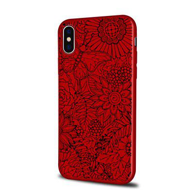 Soft Texture TPU Phone Case for iPhone X Back Cover Butterfly Doodle