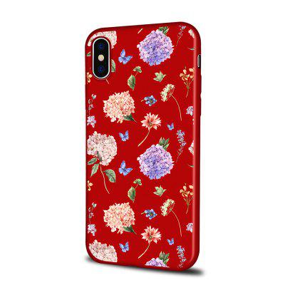 Soft Texture TPU Phone Case for iPhone X Back Cover Colorful Flowers