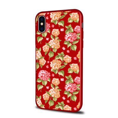 Soft Texture TPU Phone Case for iPhone X Back Cover Yellow Pink Flowers
