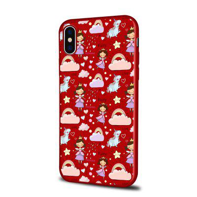 Soft Texture TPU Phone Case for iPhone X Back Cover Girl And Unicorn
