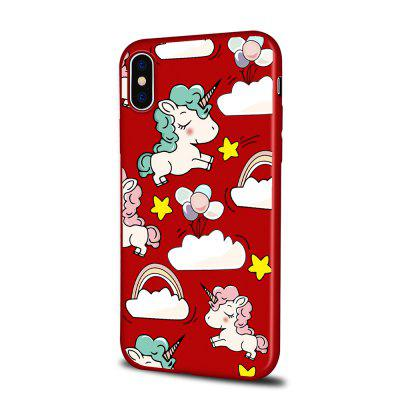 Soft Texture TPU Phone Case for iPhone X Back Cover Balloon Unicorn