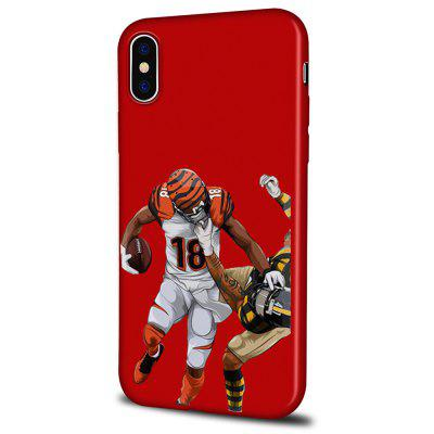 Soft Texture TPU Phone Case for iPhone X Back Cover Ball Players