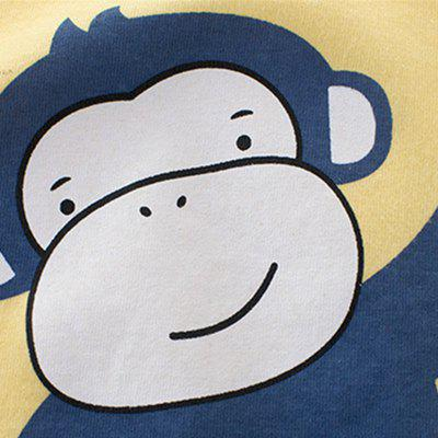 New Children Cute Cartoon Monkey Printed Short Sleeve T-shirtBoys Tops &amp; T-shirts<br>New Children Cute Cartoon Monkey Printed Short Sleeve T-shirt<br><br>Collar: Round Neck<br>Embellishment: Pattern<br>Head Drawstring: Without<br>Material: Cotton<br>Neck Drawstring: Without<br>Package Contents: 1 x T-shirt<br>Pattern Type: Character<br>Sleeve Length: Short<br>Style: Casual<br>Weight: 0.1500kg