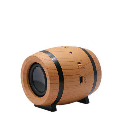 Wooden Bluetooth Speaker Mini Portable Beer Bucket Retro MP3 Music Audio Player