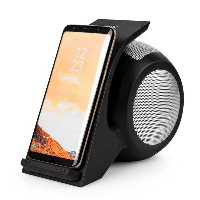Dual Coil Fast Charging Wireless Charger With Stereo Bluetooth Speaker