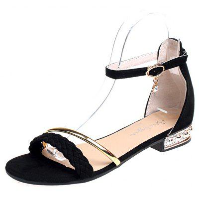 All-Match Flat Toe Sandals with A Buckle