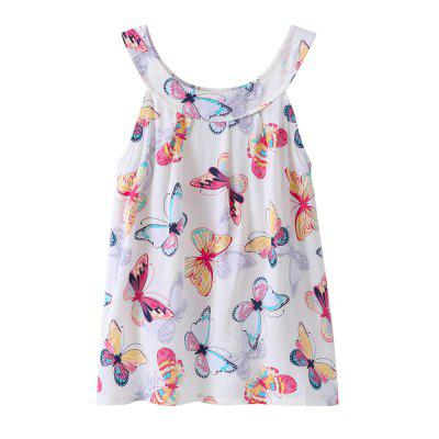 Newest Fashion Butterfly Printed Princess Dress Sunsuit