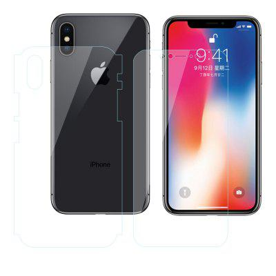1PCS Before And After Full Screen Overlay Hydrogel Film HD Film for iPhone X