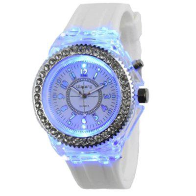 Genev Unique Creativ Sparkle Noctilucent Luminous Simulated Diamond Watch