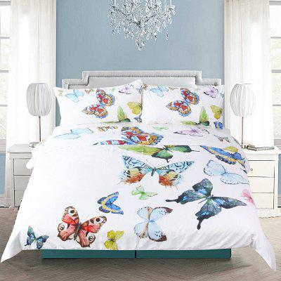 Buy Flying Butterflies Bedding Duvet Cover Set Digital Print 3pcs, MULTI, TWIN, Home & Garden, Home Textile, Bedding, Bedding Sets for $48.37 in GearBest store