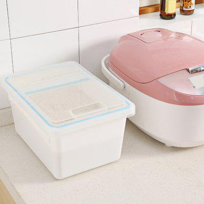 Plastic Flip Rice Bucket with Sealing RingStorage Boxes &amp; Bins<br>Plastic Flip Rice Bucket with Sealing Ring<br><br>Functions: Home<br>Materials: PP<br>Package Contents: 1 x Rice Bucket<br>Package Size(L x W x H): 36.00 x 30.20 x 20.00 cm / 14.17 x 11.89 x 7.87 inches<br>Package weight: 0.7600 kg<br>Product Size(L x W x H): 35.80 x 30.00 x 19.80 cm / 14.09 x 11.81 x 7.8 inches<br>Product weight: 0.7500 kg<br>Types: Storage Boxes and Bins