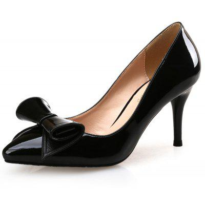 VICONE Women Spring Autumn Butterfly-knot Office Mature High Heel
