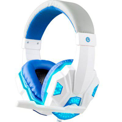 Gaming Headset with Mic and LED Light for Laptop Computer Cellphone  PS4