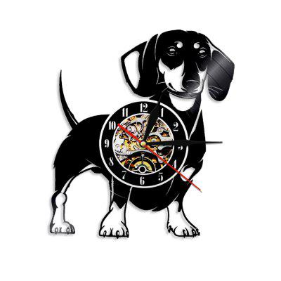 Vinyl Wall Clock Home Decor Gifts Black  12 Inch