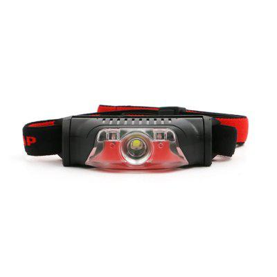 ZHISHUNJIA Mini 4-Mode White LED + Red LED Headlamp Warning Light