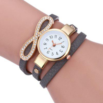 Lady Retro  Diamond Bow Bracelet Quartz Watch