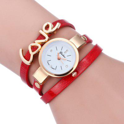 New Fashion Letter Love Lady Hand Chain Quartz Watch