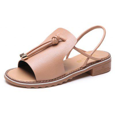 Antiskid and Comfortable Feet Flat Bottomed Female Sandals