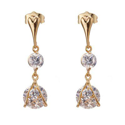 Simple and Exquisite Character Zircon Earrings ERZ0302