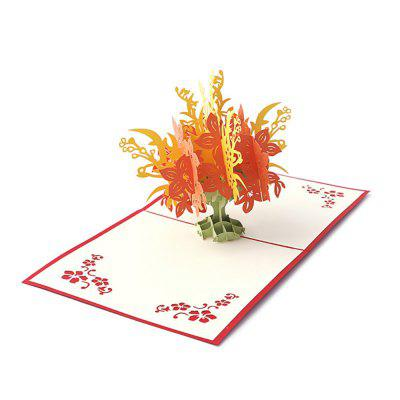 Handmade Pachira Pattern Greeting 3D Cards  for Christmas Birthday