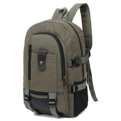 New Men Canvas Shoulder Bag Large-Capacity Outdoor Leisure Backpack серьги из серебра valtera 63591