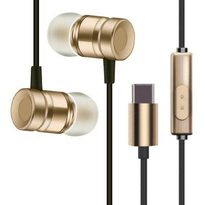 New Fashion Metal In-ear Headphones for Type-C