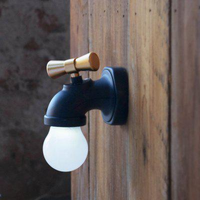 Creative Faucet Shape LED Warm White Simple USB Charging Wall Lamp