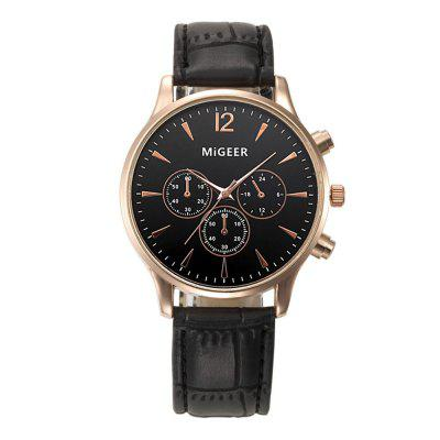 Luxury Business Men Wrist Watch Women Leather Quartz Sport