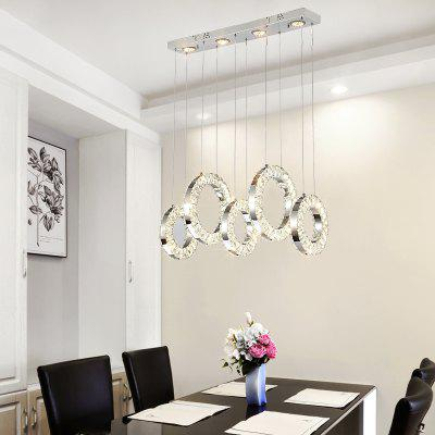 DJB58 Personality Creative 5 Ring Three Color Switch Crystal Pendant Light