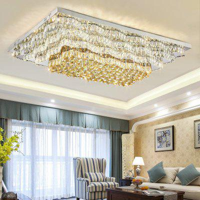 DJB63 Personality Creation Rectangle Tri Color Switch Crystal Ceiling Lamp