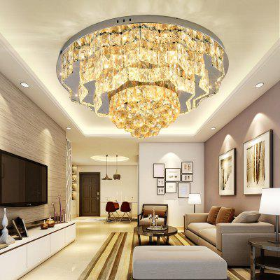 DJB64 Personality Creative Circular Three Color Switch Crystal Ceiling Light