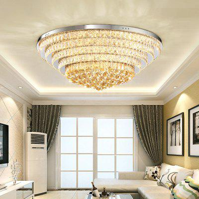 DJB65 Personality Creative Circular Three Color Switch Crystal Ceiling Light