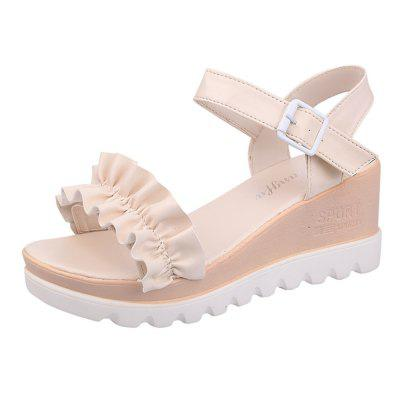 All-Match Slope Toe Buckle Waterproof Sandals