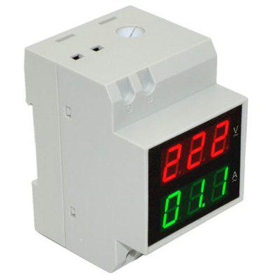 D52-2042 Current Meter Multi-Functional Din-Rail Voltmeter Ammeter