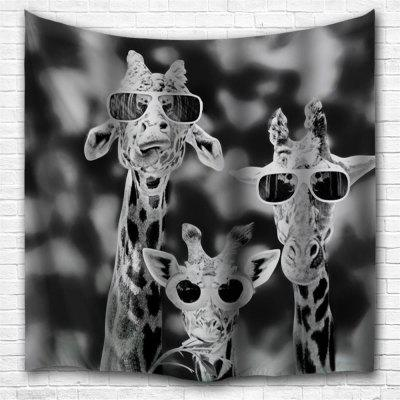 Sunglasses Giraffe 3D Printing Home Wall Hanging Tapestry for Decoration