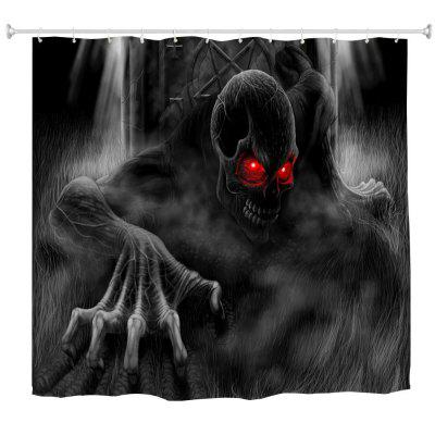 Red Eye Demon Water-Proof Polyester 3D Printing Bathroom Shower Curtain