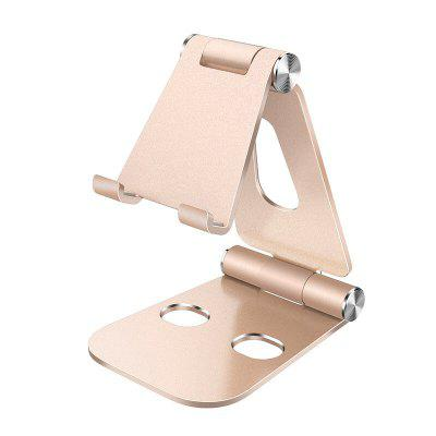 Double Folding Aluminum Alloy Lazy Bracket Adjustable Desktop Mobile Phone Table