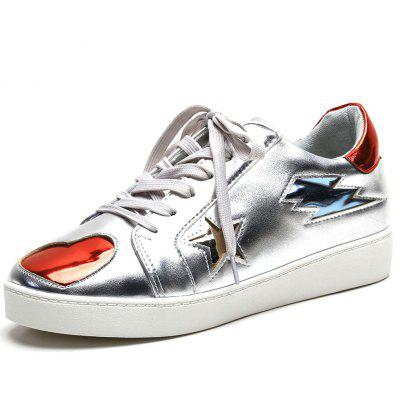 Lace Up Heart Shaped Sneakers
