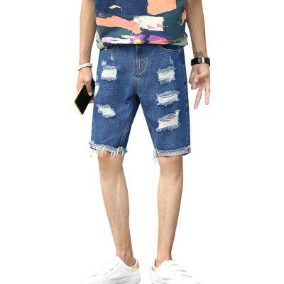 Men's Summer Thin Five Denim Shorts