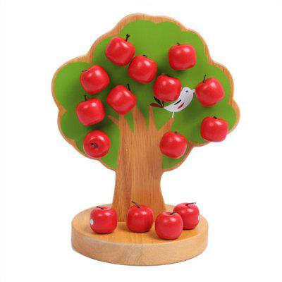 Wooden Baby Puzzle Toy Magnetic Fruit Tree