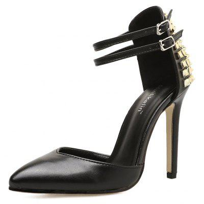Fashion Shoes Rivets  Pointy Heads  Shallow-Cut High-Heel Sandals