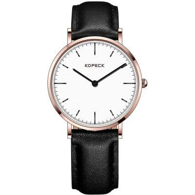 KOPECK 6006-2 Couples Quartz Analog Calendar Watch