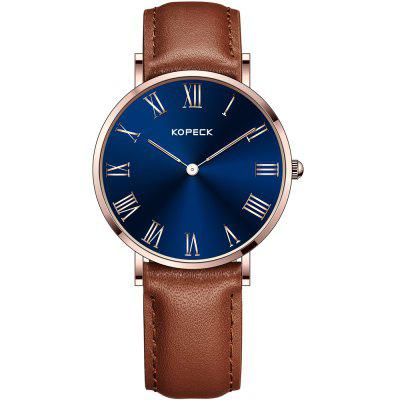 KOPECK 6011-2 Couples Quartz Analog Calendar Watch