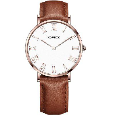 KOPECK 6012-2 Couples Quartz Analog Calendar Watch