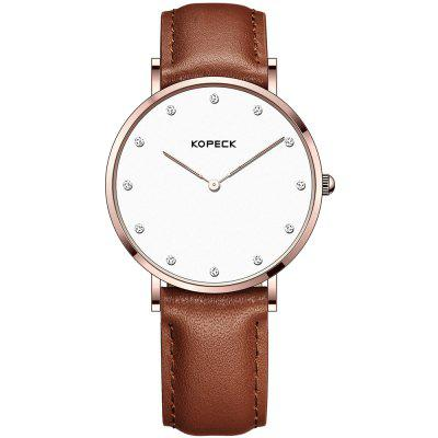 KOPECK 6013-2 Couples Quartz Analog Calendar Watch