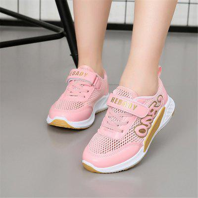 Boys and Girls in The Spring and Autumn Sports Shoes with A Net Surface Air dreambox 2017 autumn and winter trends in europe and america woven leather breathable shoes in thick soled sports shoes men